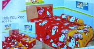 sprei-lady-rose-disperse-hello-kitty-red
